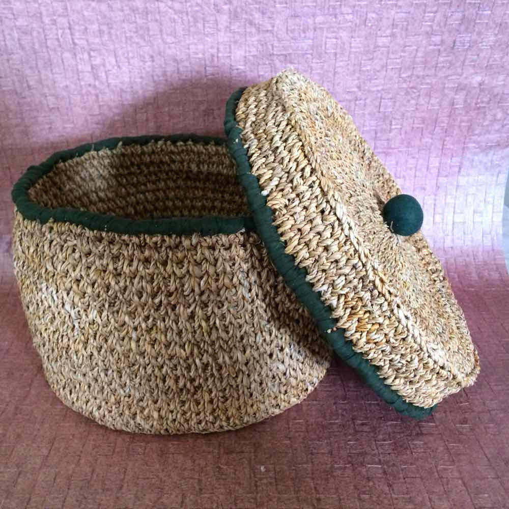 Lidded Banana Fibre Basket