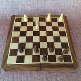 Folding Magnetic Chess Set With Fitting