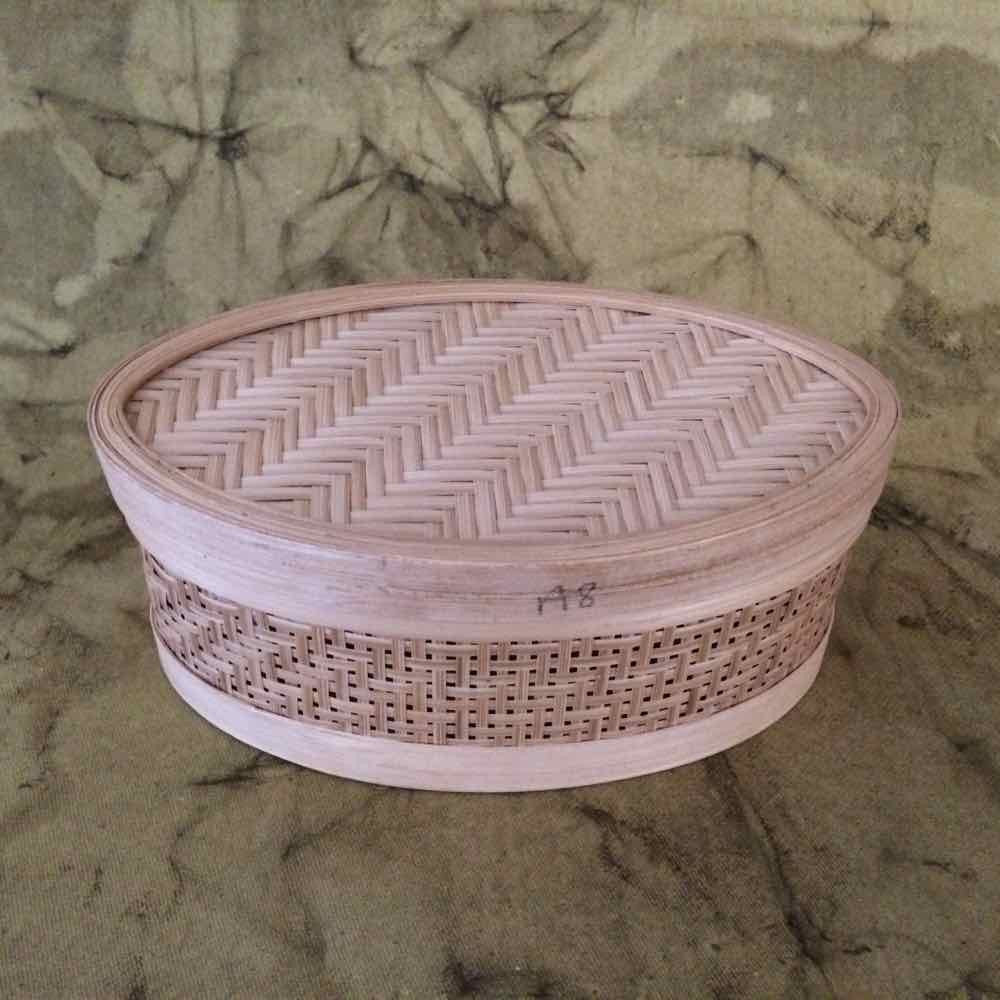 Oval  Bamboo Box Small