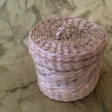 Handcrafted Kauna Reed Round Jewellery Box