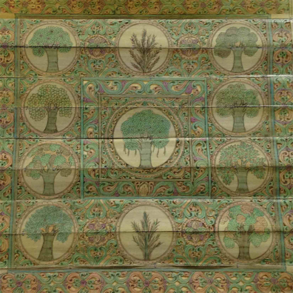 Tree of Life - Coloured Palm Pattachitra