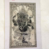 Ganesha – Pattachitra on Tussar Silk-w/frame