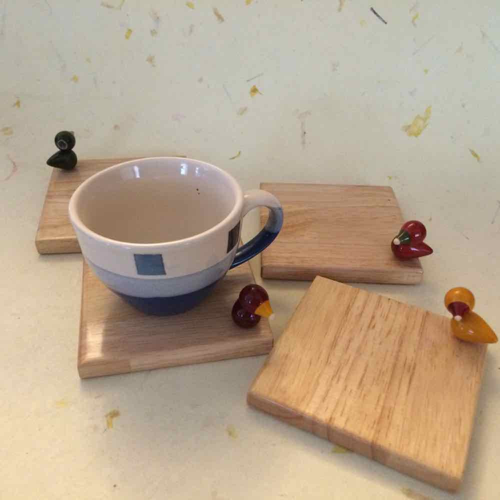 Bird Song Square Coasters Set of 4