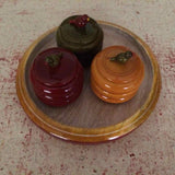 Set of 3 Large Kumkum Bowls With A Plate