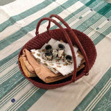 Oval Basket with Swing Handle Set of 2