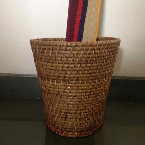 Rattan Planter / Waste Bin Small