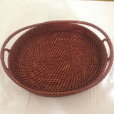 Oval Tray With Top Handle Set of 3