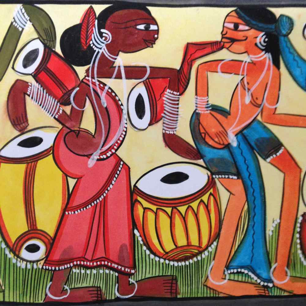 'Festivity' Santal Painting
