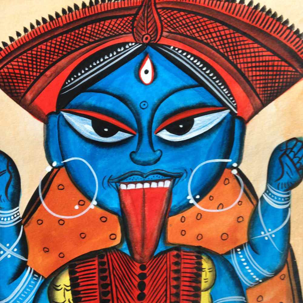 Goddess Kali Bengal Pattachitra