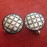 Bidri Cufflinks Round With Star Work