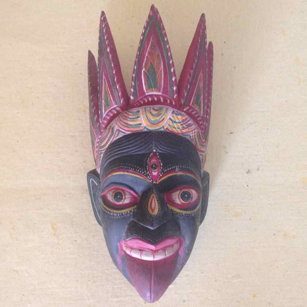 Wooden Kali Mask