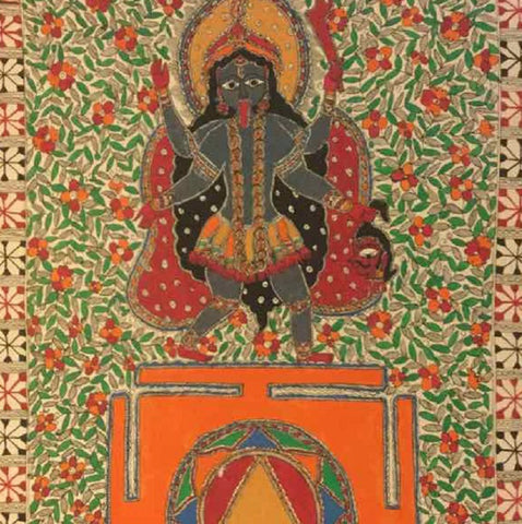 Mahavidya Kali With Yantra