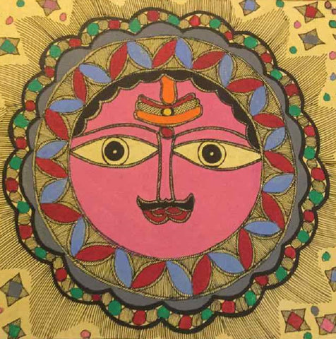 'Shades of the Sun' - Madhubani Painting