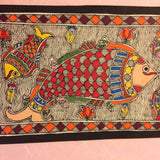 'Fish Family'- Madhubani Painting