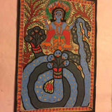 Lord Krishna On Kaliya Snake - w/frame