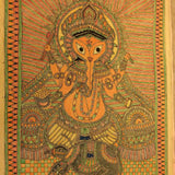 Ganapati Line Painting - w/frame