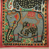 Elephants Family - Madhubani Painting
