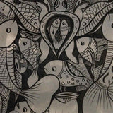 Fish Marriage Pattachitra - in Black and White