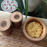 Wooden Salt and Pepper Shakers Set