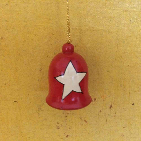 Wooden Christmas Decor : Bell With Star