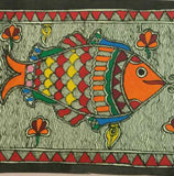 'Love in a Lotus Pond'- Madhubani Painting