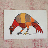 Bird Gond Painting - w/frame