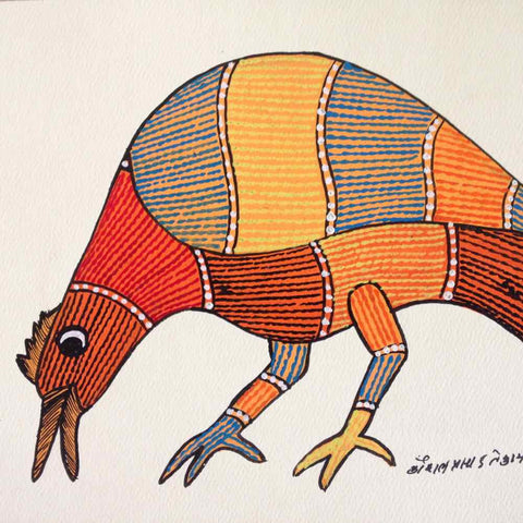 Bird Gond Painting