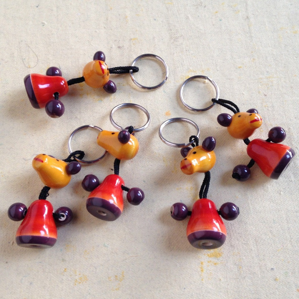 Fox Key Chain :: Set of 5