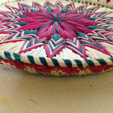 Vintage Grass Woven Plate Pink