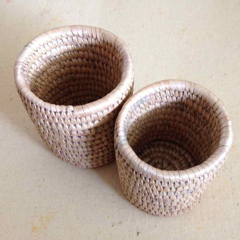 Sikki Grass Pen Holders Set Neutral