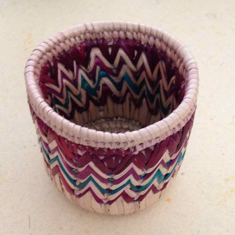 Zig Zag Pen Holder Multicolored