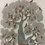 The Fox and The Grapes Story Gond Art