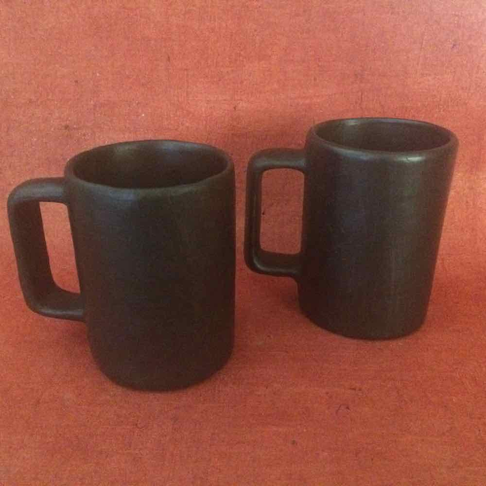 Round Coffee Mugs Set of 2 Without Cane Work (Large)