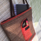 "Banana Fibre ""U"" Bag With Pocket"