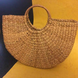 Round Cane Handle Bag Small