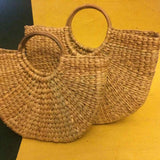 Round Cane Handle Bag Medium