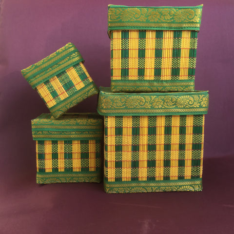 Bamboo Square Box (Set of 4)