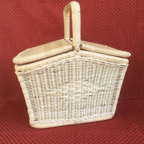 Cane Picnic Basket Cum Shopping Basket