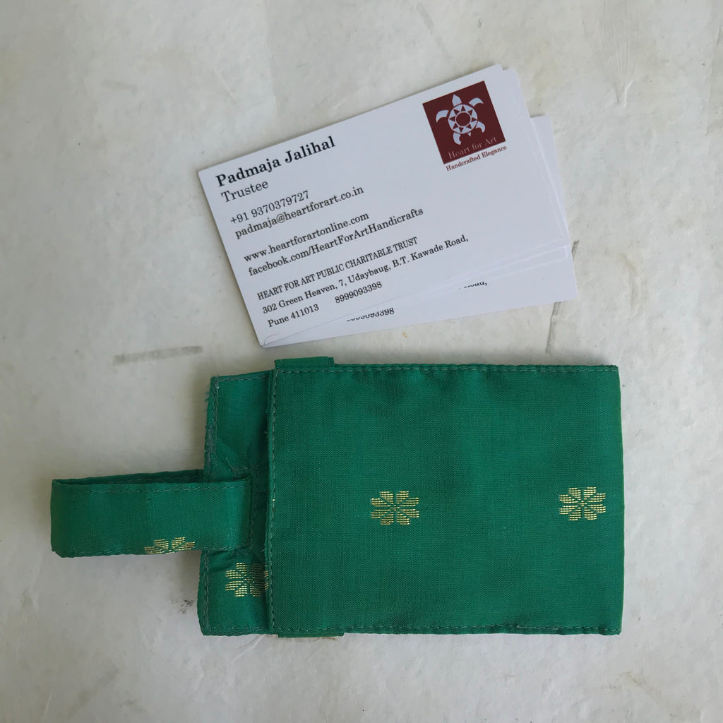 Paithani Card Holder with Handle
