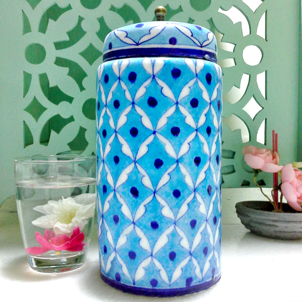Decorative Jar Light Blue