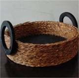 Fruit Basket with Wooden Base