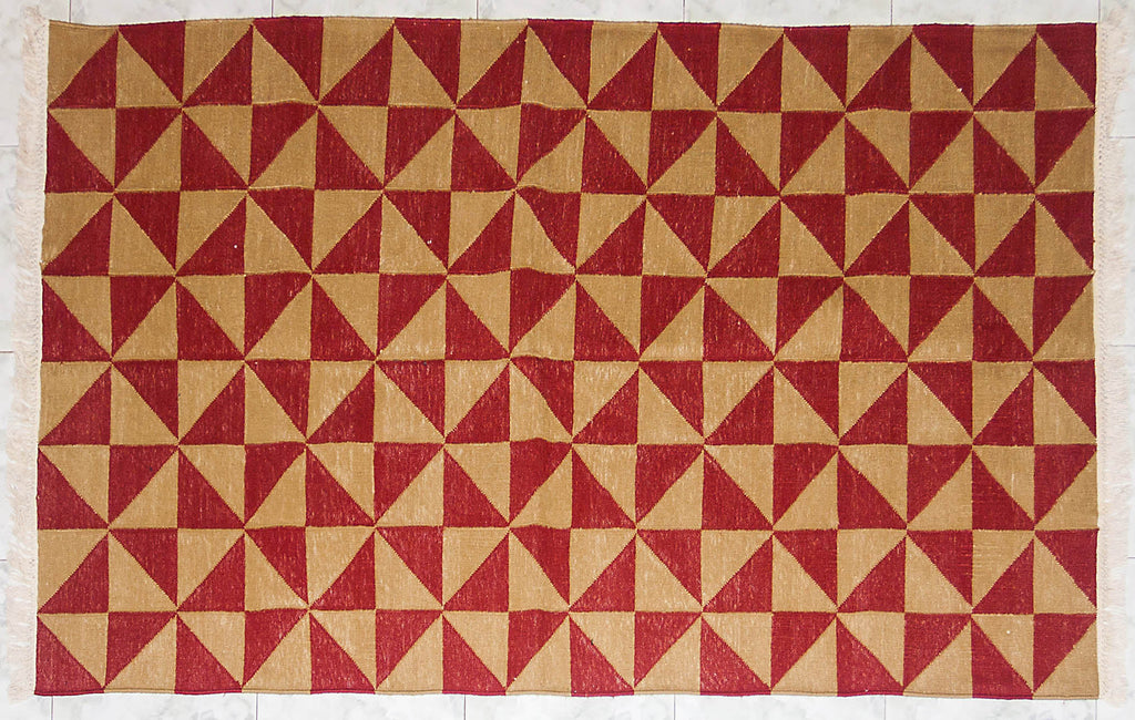 Windmill 5 ft x 3 ft Cotton Punja Dhurrie
