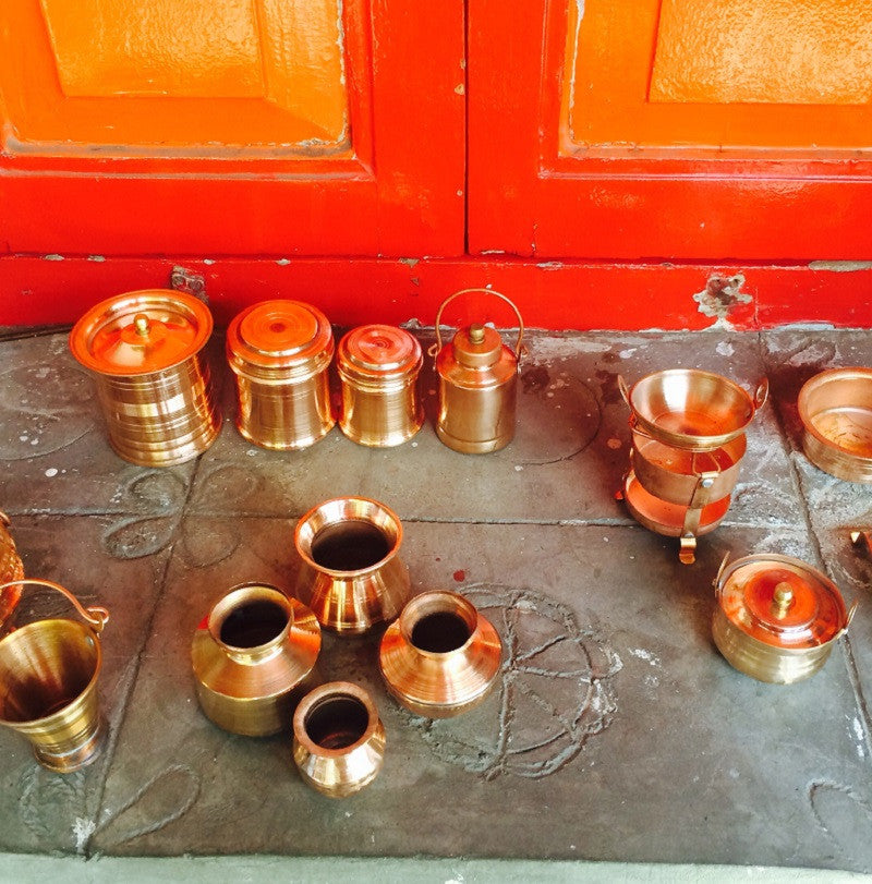 Miniature Copper Kitchen Set of 10pcs - Bhatukli