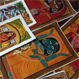 Assorted AHMEDABAD Bengal Pattachitra Paintings