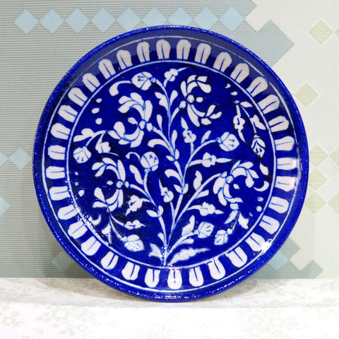 Decorative Plate Medium Dark Blue