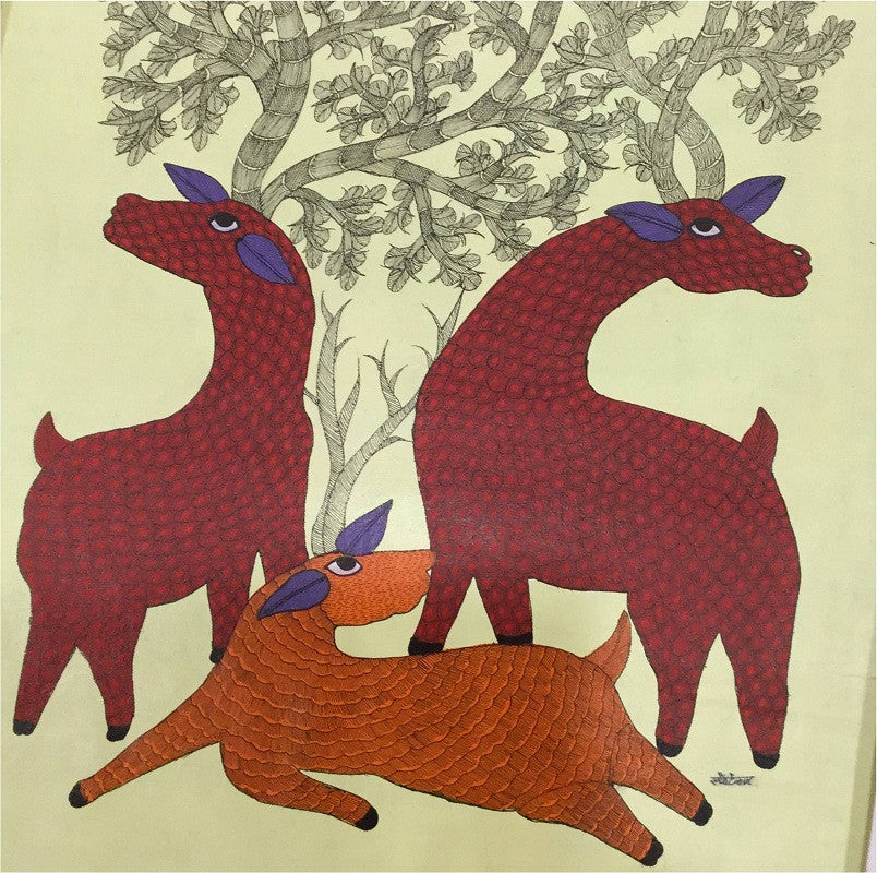 Tree of Life 2 Gond Painting