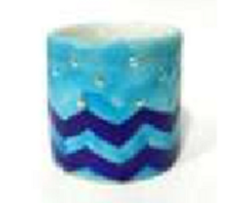 Blue Pottery TeaLight Holder 2
