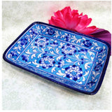 Blue Pottery Tray - Light Blue