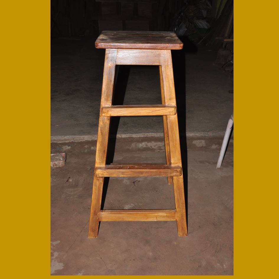 Solid Wood High Stool