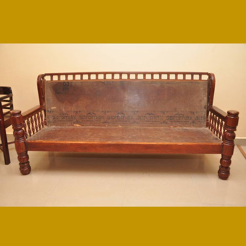 Teak Wood Three Seater Sofa (Frame Only)